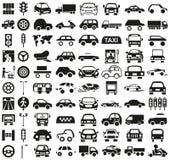 Ícone do carro no branco ilustração stock