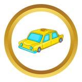Ícone do carro do táxi ilustração stock