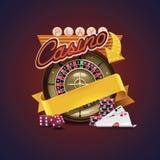 Ícone do casino do vetor Foto de Stock Royalty Free
