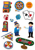 Ícone do casino dos desenhos animados Imagens de Stock