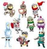 Ícone do cavaleiro dos desenhos animados Imagens de Stock