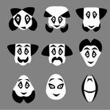 Ícone do cavalheiro - homem com grupo do moustache e do laço Máscaras engraçadas ilustração stock
