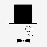 Ícone do cavalheiro isolado no fundo branco Luz do vetor art ilustração stock