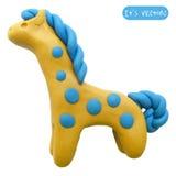 Ícone do cavalo do brinquedo do plasticine Imagens de Stock Royalty Free