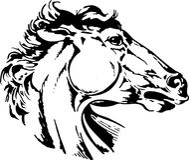 Ícone do cavalo do estilo Imagem de Stock Royalty Free
