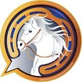 Ícone do cavalo do jóquei ilustração do vetor