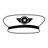 Ícone do chapéu do oficial de exército ilustração royalty free