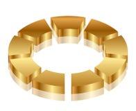 Ícone do ciclo do ouro Fotografia de Stock