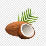 Ícone do coco, estilo dos desenhos animados ilustração stock