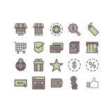 Ícone do comércio eletrónico Fotografia de Stock