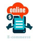 Ícone do comércio eletrônico Fotografia de Stock