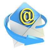 Ícone do conceito do email Foto de Stock Royalty Free