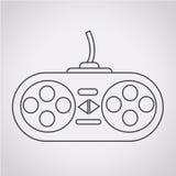 Ícone do controlador do jogo Fotografia de Stock Royalty Free