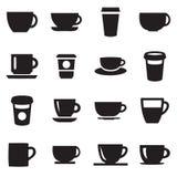 Ícone do copo de café da bebida simples ilustração do vetor