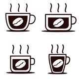 Ícone do copo de café quatro pelo vetor fotos de stock royalty free