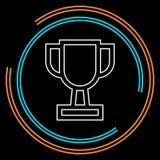 Ícone do copo do troféu - o prêmio do ouro isolou-se ilustração do vetor