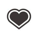 Ícone do coração Símbolo liso para a arte da aplicação ou do design web Foto de Stock Royalty Free