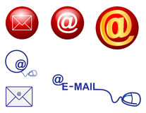 Ícone do correio de E ilustração stock