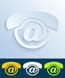 Ícone do correio de voz Fotografia de Stock
