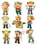Ícone do cowboy dos desenhos animados Fotografia de Stock