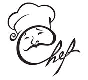 Ícone do cozinheiro chefe Imagens de Stock Royalty Free