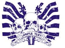 Ícone do crânio imagens de stock royalty free