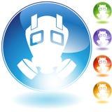 Ícone do cristal da máscara de gás Imagens de Stock Royalty Free