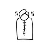 Ícone do cuidado do corpo dos termas Foto de Stock
