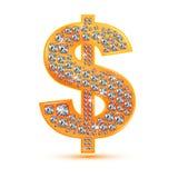 Ícone do dólar do diamante Foto de Stock