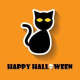 ícone do Dia das Bruxas do gato Fotografia de Stock