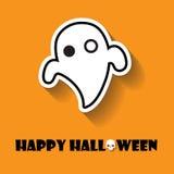 Ícone do Dia das Bruxas dos fantasmas Imagens de Stock Royalty Free