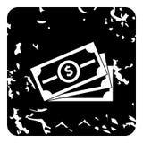 Ícone do dinheiro, estilo do grunge ilustração royalty free