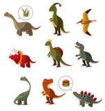 Ícone do dinossauro dos desenhos animados Foto de Stock Royalty Free