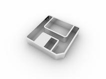 ícone do disco flexível 3d ilustração royalty free