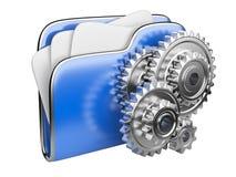 Ícone do dobrador com roda de engrenagem Fotografia de Stock