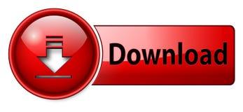 Ícone do Download, tecla Imagens de Stock