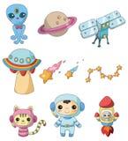 Ícone do elemento do espaço dos desenhos animados Fotografia de Stock
