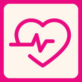 Ícone do eletrocardiograma Imagens de Stock