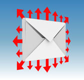Ícone do email Fotos de Stock Royalty Free