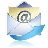 Ícone do email Fotografia de Stock