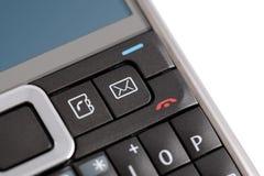Ícone do email no telefone de PDA Fotografia de Stock