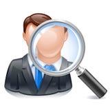 Ícone do empregado da busca Fotografia de Stock Royalty Free