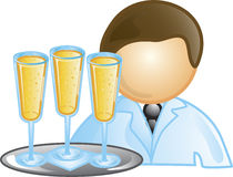 Ícone do empregado de mesa Fotografia de Stock Royalty Free