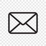 Ícone do envelope do email Vector o símbolo da mensagem do correio isolado no fundo transparente ilustração do vetor