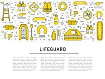 Ícone do equipamento da salva-vidas Foto de Stock