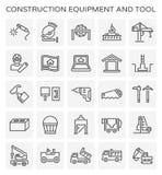 Ícone do equipamento de construção ilustração stock