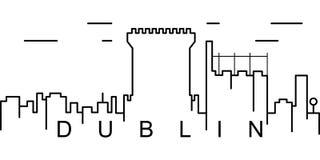 Ícone do esboço de Dublin Pode ser usado para a Web, logotipo, app móvel, UI, UX ilustração royalty free