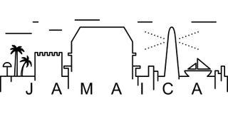 Ícone do esboço de Jamaica Pode ser usado para a Web, logotipo, app móvel, UI, UX ilustração do vetor