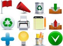 ícone do escritório e do negócio do vetor Fotografia de Stock