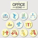 Ícone do escritório para o uso do negócio Fotografia de Stock